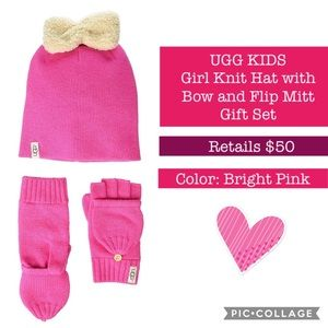 **BRAND NEW UGG KIDS KNIT HAT AND MITT GIFT SET
